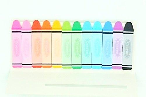 Multicolor Crayon–Set de marcadores de página y banderas, 1.89en x 0,39en), varios colores brillantes, 15-sheets/Pad, almohadillas de 12/Pack (op013986)