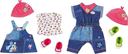 Zapf Baby Born Deluxe Jeans Outfit 2 Ass. Juego de ropita para muñeca - Accesorios para muñecas (Juego de ropita para muñeca, 3 año(s),, Baby Born, Chica, 43 cm)