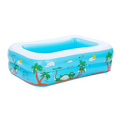 niceEshop(TM) Baby Aufblasbar Schwimmen Pool PVC Planschbecken für Kinder, Blau Square