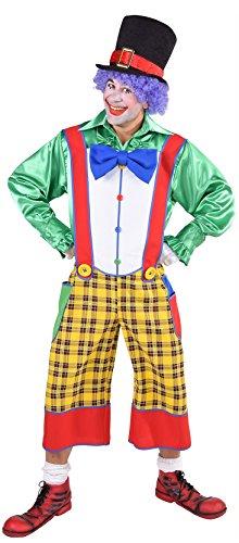 Kostüm Coco Clown - M217279-M-L Herren Clown Latzhose Kasper Kostüm Coco Gr.M-L