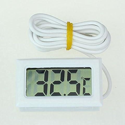 Euzeo Mini Digital LCD haute température Thermomètre avec sonde Celsius