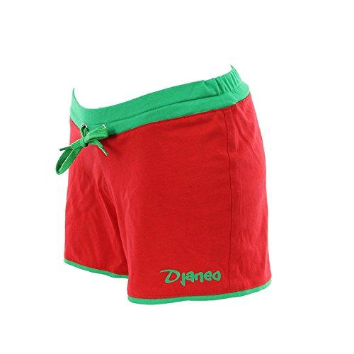 Short de sport Femme Djaneo Rio coton 20 couleurs Rouge et Vert