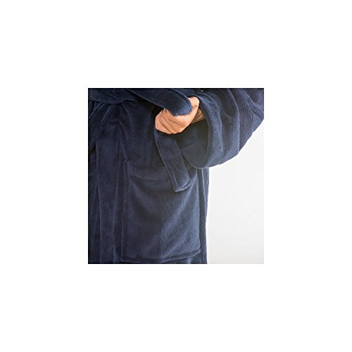 Accappatoio Donna Uomo CelinaTex con sciarpa colletto DOMANI cappotto Coral-in pile morbido, soffice e comodo, Nevada 2 colori, Microfibra, blau mit mittel blau, XXXL blau mit mittel blau