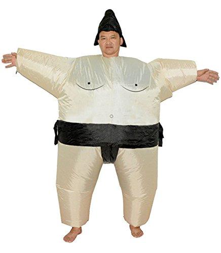 LaoZan Aufblasbares Kostüm Fasching Karneval Aufblasbares Sumo Kostüm (Sumo Ringer Erwachsene Kostüme)