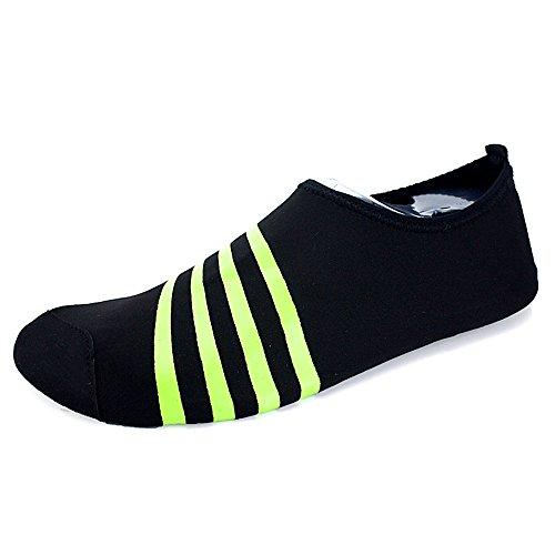 Santiro Unisexe Chaussures de Sport Aquatique Chaussons de Surf / Plong¨¦e / Plage Piscine Beach Natation Gym Yoga Les Amants de Skin Shoes.SSD010B1-2XL