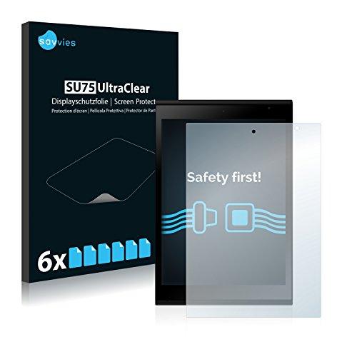 Savvies Schutzfolie kompatibel mit Jolla Tablet (6 Stück) - ultraklare Bildschirmschutz-Folie