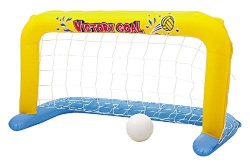 Bavaria Home Style Collection Tor Pool Tor Wasserball Wasserballtore Wassertor Wasserballtor aufblasbar Set mit Nylonnetz und Ball Wasserball gelb für Pool -