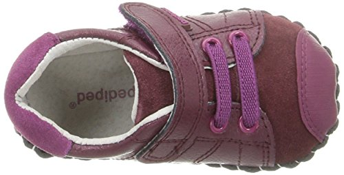 pediped Jake, Chaussures Premiers pas bébé fille Red (Berry)