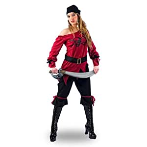 Pirate Lady Corsair Fancy Dress Costume - Women - XS
