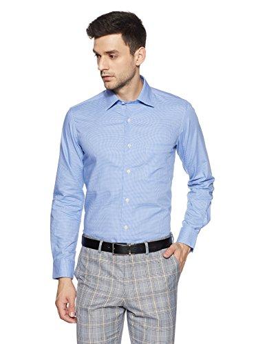 Arrow Men's Plain Regular Fit Cotton Formal Shirt (8907378742360_Lt. Blue_39)