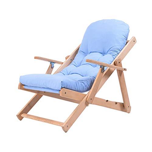 HUYP Chaise De Bureau Pliante Bleue Siesta Recliner Personnalité Chaise De Camping en Plein Air