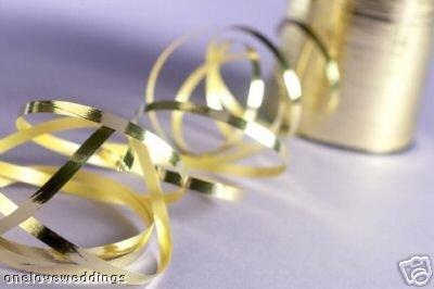 Metallic Gold Curling Ribbon - 500m x 5mm