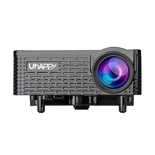 UHAPPY U18 Mini Multimedia LED Video Projector 500 Lumens 16770K Home Theater Beamer with VGA HDMI USB AV SD  US  Black