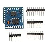 FLAMEER 12C Dual Motor DC Stepper Motortreiber Schrittmotor Controller Modul für Arduino Microcontroller, 0,8 x 0,8 Zoll
