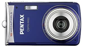 """Pentax Optio M60 Appareil photo compact numérique CCD 10 Mpixels Ecran LCD 2,5"""" Zoom x5 Stabilisateur numérique Bleu"""
