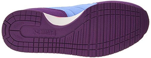 Puma Cabana Racer SL Unisex-Kinder Sneakers Violett (grape juice-white-marina blue 35)
