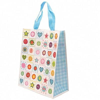 Cute Colourful Buttons Design Durable Shopping Bag