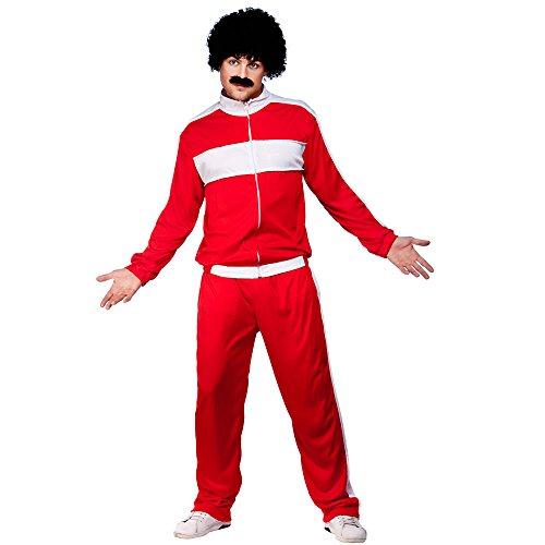 Pop Kostüm Rock Und Dress Fancy - XXL, Herren, 80's Retro Trackie Kostüm für 80er-Jahre Look, Rock/Pop Fancy Dress Mans-XXL Scouser Trainingsanzug Plus Size
