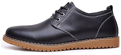 WUIWUIYU Homme Casual Oxfords Chaussure en Cuir