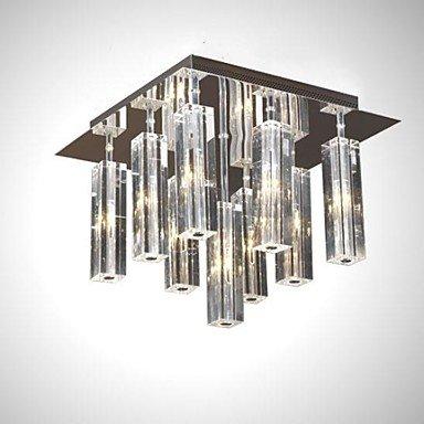 Kristall Neun Licht (DXZMBDM® moderne Kristall Unterputz g4 9 Licht mit Kristall K9 Edelstahl , 220-240V)