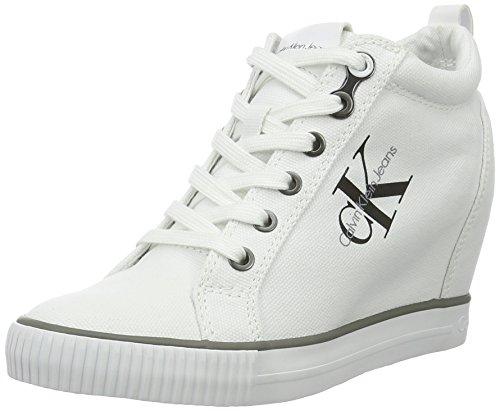 Calvin Klein Jeans Ritzy Canvas, Scarpe Donna, Bianco (White), 37 EU