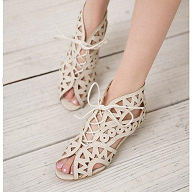 Donn le scarpe tacco basso Comfort sandali Office & carriera/abito nero/giallo/bianco US8 / EU39 / UK6 / CN39