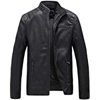 Men's Coats Jackets,Men's Autumn Winter Casual Fashion Pure Color Patchwork Jacket Zipper Outwear Coat (L, BLACK)