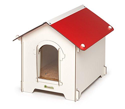 Classic Hundehütte Stecksystem, XS-XXL, Holz faltbares Hundehaus, wasserresistent, ideal für Urlaub
