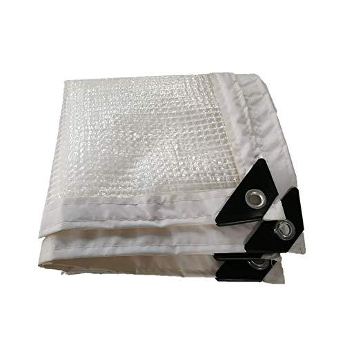 Weiße klare Plane mit Ösen, Gartennetz, wasserdichte Plane mit dickem Rand, wasserfestes Tuch für Gewächshaus, Isolierfolie ZHAOFENGMING (Farbe : Weiß, größe : 1×2M)