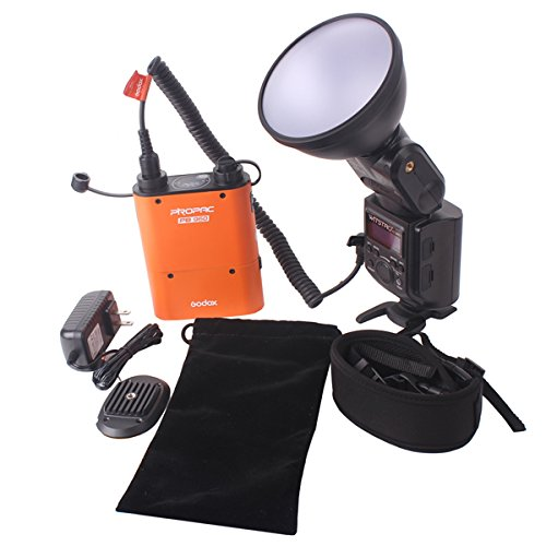 Godox Witstro AD-360 Blitzgerät-Kit, tragbar, mit orangefarbenem Akkupack PB960