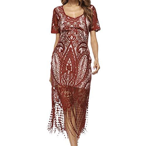 Kleider Damen,SANFASHION Damen 1920er Charleston Kleid Pailetten Cocktail Flapper Kleid Mit Ärmel