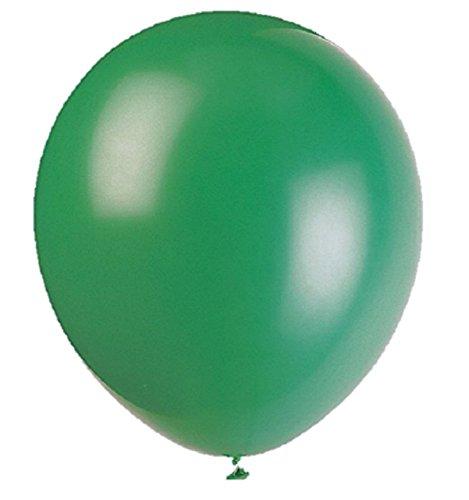 100 Piezas 10' (25 CM) Globos Pearlised Metálico Aire o Helio Boda Cumpleaños Fiesta de Navidad Decoración Disponible en 14 Colores (Pino Verde)