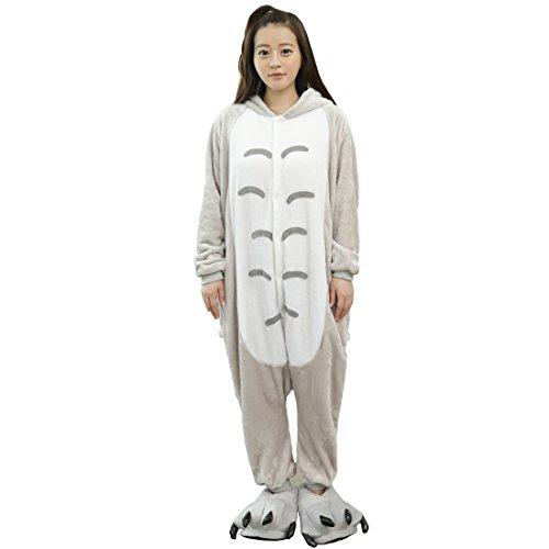 Cool&D Pyjama Schlafanzug Onesie Jumpsuits Hausanzug Flanell Kostüme mit Schuhe für Herren Damen Kinder