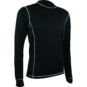 Highlander 160 - Maglietta a maniche lunghe, termica, strato base, da uomo, grigio (grigio scuro), XL