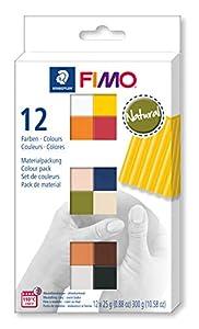Staedtler 8023-C12-4. Pasta para modelar FIMO. 12 pastillas de colores de 25 gramos. Pack Colores Naturales.