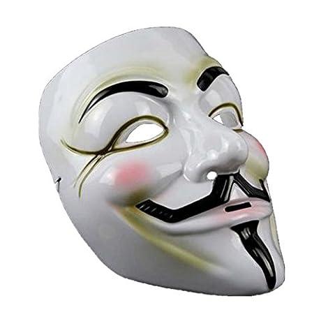 Maske Loveso Mask Anonymous Vendetta V For Vendetta Masquerade Halloween Fancy Party (Weiß) (Vampir Kostüm Diy)