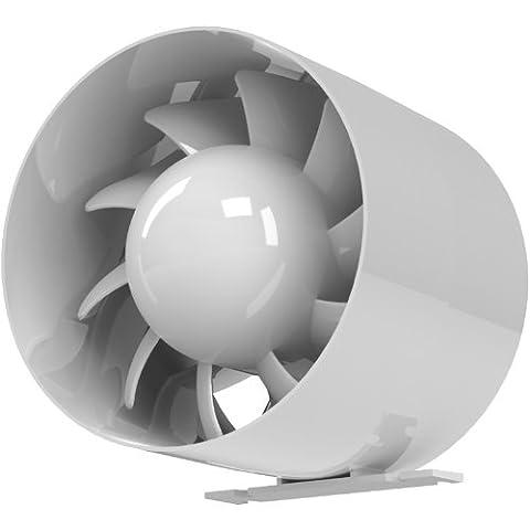 Ventilateur axial de la gaine en blanc, diamètre 100 mm pour l