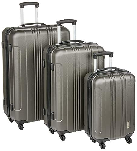 Packenger 3er Torreto Trolley Hartschale, M, L & XL, Koffer-Set, Anthrazit