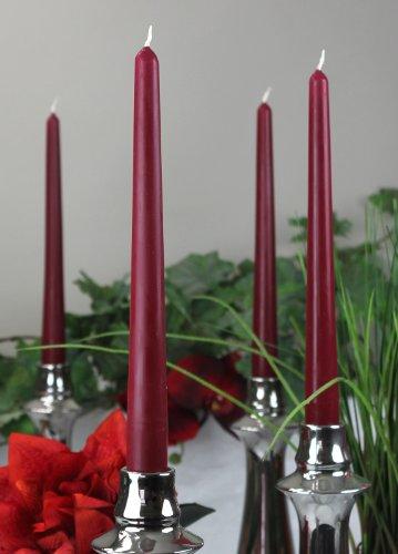 Spitzkerzen Kerzen Markenkerzen Tafelkerzen Leuchterkerzen Dinnerkerzen 250/23 mm dunkelrot rot, 12 St.