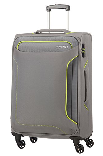 American Tourister Holiday Heat Spinner, 3.2 kilograms Koffer, 67 cm, 66 Liter, Metal Grey