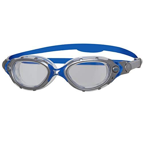 Zoggs Adult Predator Flex Schwimmbrille, Grey/Blue, One Size