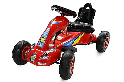 Battery-Powered-Ride-on-Go-Kart-for-kids-with-Air-Wheels-LED-Light-Foot-Brake