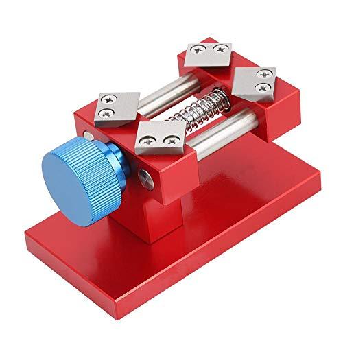 Uhrenreparatur-Werkzeug Nussknacker DIY Handwerksklemme Schraube verstellbar Skulptur Tisch-Schraubstock Uhr Aluminiumlegierung Backen Mini Universal, rot