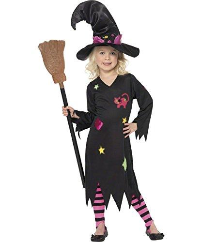 Zauberin Kind Kostüm - KULTFAKTOR GmbH Moor Hexe Zauberin Kinder-Kostüm schwarz 98 (3-4 Jahre)