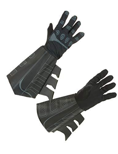 Batman-Handschuhe Erwachsene schwarz Einheitsgröße
