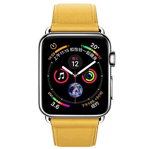 VRTUR Mode Sport Smart Watch Armband, Echtes Lederarmband Watch Series 4 40MM Watcharmband