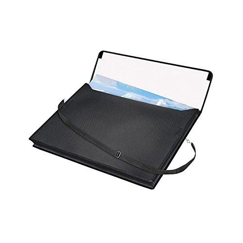 VELOBAG Zeichentasche A2 schwarz mit Trageriemen - Zeichenblock Tasche