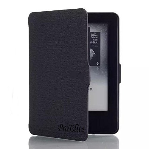 ProElite Ultra Slim Smart Flip case cover for all New Amazon Kindle Paperwhite (2015 Edition) (Auto Sleep/Wake up) (Black)
