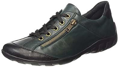 Remonte Dorndorf  R3421, Chaussures de ville à lacets pour femme - Rouge Rot (schwarz/pinie/36), 36