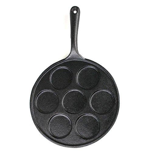 Big BBQ Pfannkuchenpfanne Pancake Pfanne aus Gusseisen, unbeschichtet und bereites eingebrannt